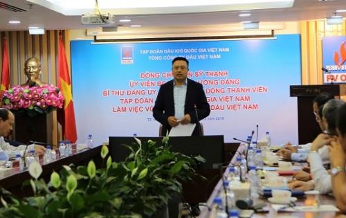 Chủ tịch Hội đồng thành viên PVN Trần Sỹ Thanh làm việc tại PVOIL