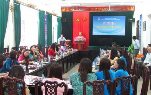 PVOIL Nam Định tổ chức mít tinh kỷ niệm ngày Quốc tế phụ nữ 8-3
